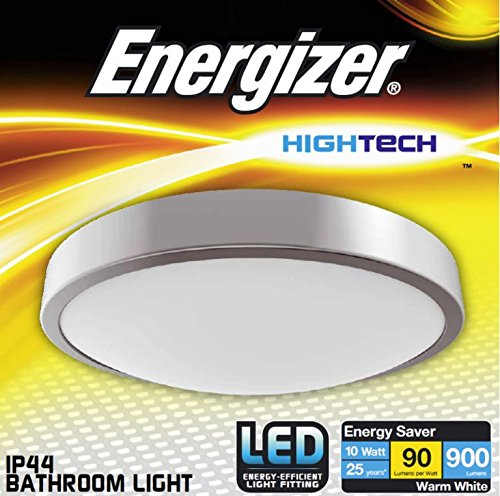 silver led bathroom flush ceiling light fitting ip44 rated zone