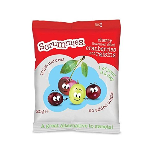 Scrummies Cherry Flavour Cranberries & Raisins 20g by CLEARLY SCRUMPTIOUS (Image #1)