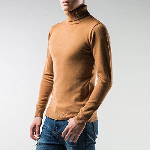 Jdfosvm männer - Pullover solid Winter männer männer Hemd, ärmel sitzende Rollkragen - Pullover Mode,karamell,m