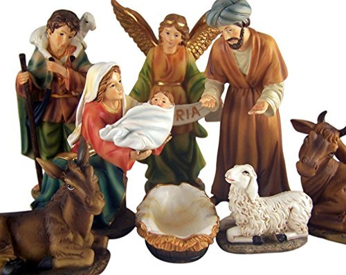 Holy Family with Detachable Jesus 6-inch 8 Piece Nativity...