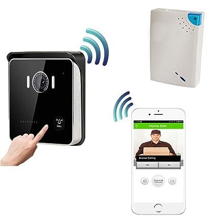 WWAVE Timbre inalámbrico de Smart WiFi Video Portero Puerta teléfono Bell Timbre HD 720 Noche P