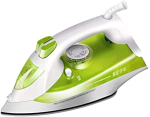 LLVV Irons Handheld Steam Iron Home Strong Ceramic Floor Garment Steamers Continuous High Pressure Steam Up to 45G/Min, for Garment/Home/Kitchen/Bathroom/Car 2400W,Green