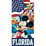 Disney American Flag Friends Mickey Goofy Donald Beach Towel