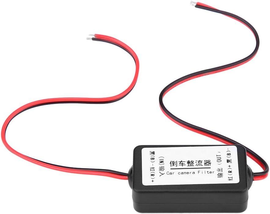 12V filtro de potencia del coche para cámara de marcha atrás, filtro de condensador de relé de potencia para cámara de copia de seguridad del coche