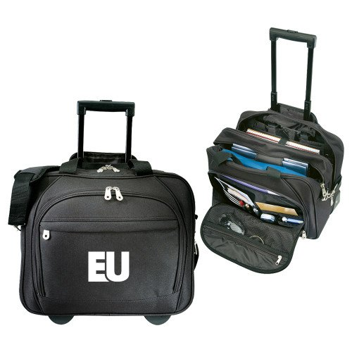 Evangel Embassy Plus Rolling Black Compu Brief 'EU' by CollegeFanGear