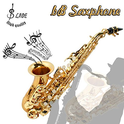 LADE WSS-795 bB Golden Brass Saxophone Hand-Caved Tube For Beginner by SOUND HOUSE 38 (Image #1)