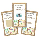 Personalized Bridal Shower Wedding Reception Scratch Off Game Cards Scratchers Watercolor Destination Travel Suitcases SCB8044