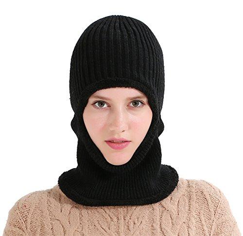 97e4e32247a Runtlly Windproof Ski Face Mask Winter Hats Warm Knitted Balaclava Beanie  Hat