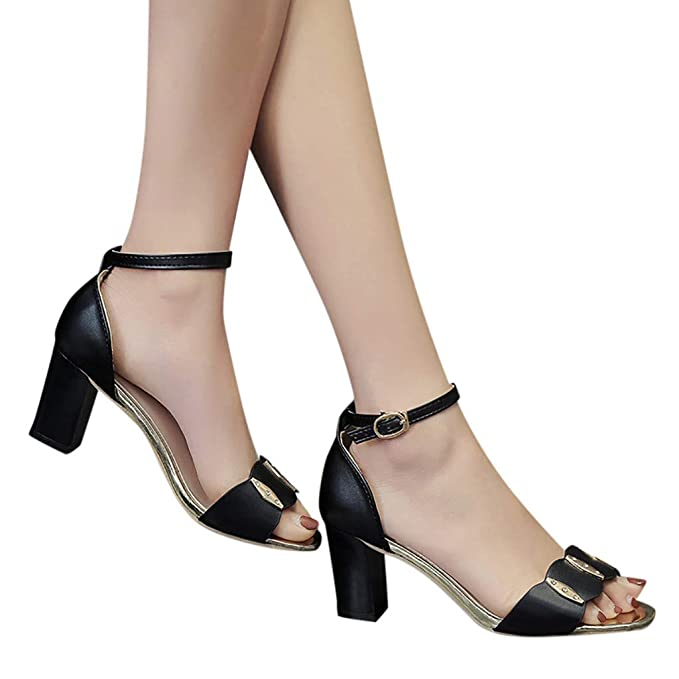 07f98e6800b Amazon.com: Women High Heel Sandals Summer,SIN+MON Casual Ankle ...