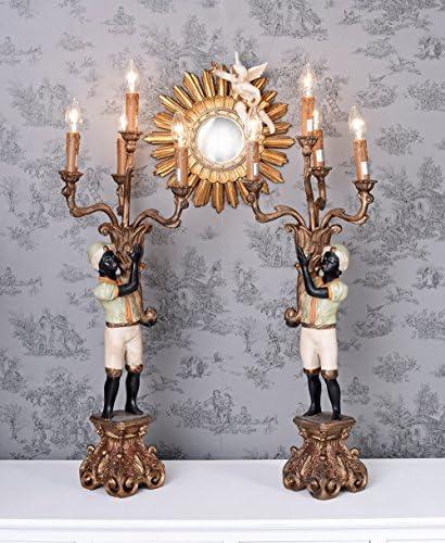 Paar Girandolen venezianische Lampen schwarze Mohren OAR645 Palazzo Exklusiv