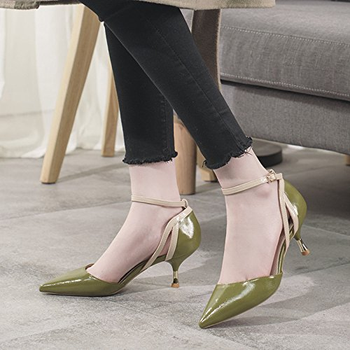 Dress Party Toe Ladies 5 Femmes Green Hauts Ladies 38 UK Talons Chaussures 6cm Escarpins 5 Court Sexy EU Pointu q0YBq