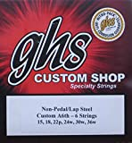 GHS Custom A6th- 6 Lap Steel Guitar Strings Gauges 15-36W - 2 Sets