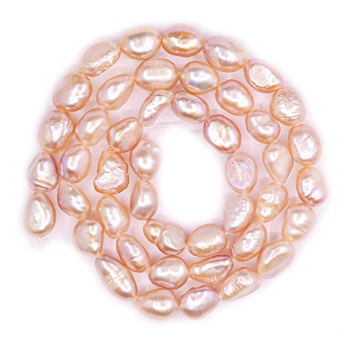 - Natural Pink Freshwater Pearl Baroque Nugget Rice Loose Beads Strand 14
