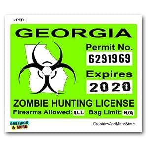 Georgia ga zombie hunting license permit green for Georgia fishing regulations