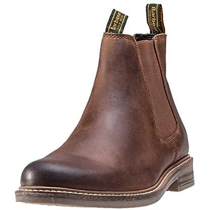Barbour FARSLEY Chelsea Boots Dark Tan 1