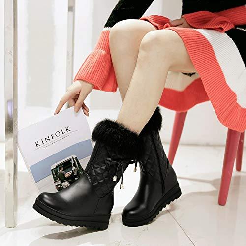Cuña Aumentan Gran Invierno Phy Shoe De Tacón Botas Nieve Tamaño Las 粉色 A8BX71xqw
