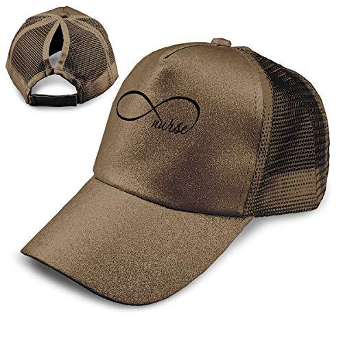 EElason99 White Infinity Nurse Athletic Trucker Hat Mesh Baseball Cap