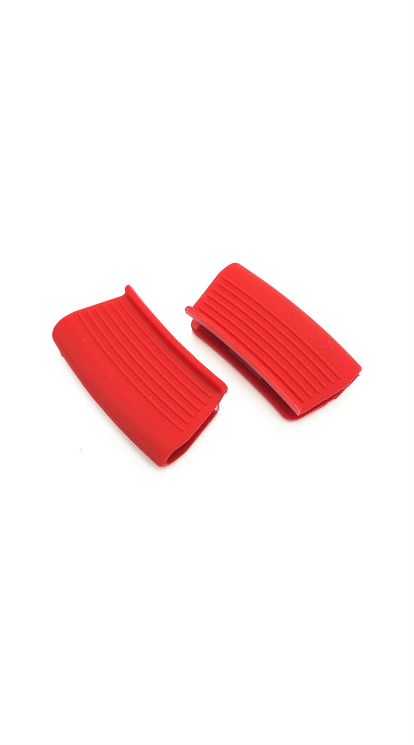 TYZP Mini Silicone Pot Holder Grip Clip Type Heat-Resistant Hot Pot Handle Cover for Kitchen (Color : Red) by TYZP
