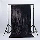 Zdada Seamless Black 5ftx7ft Ceremony Photo Booth Sequin Backdrop Review