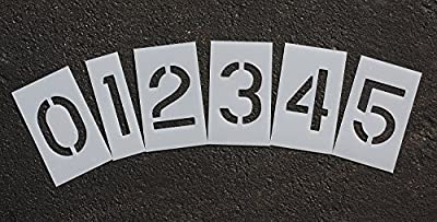 """RAE - 10-inch NUMBER KIT Paint Stencils, 1/16"""" - Plastic Letters Paint Stencils for Use with Any Paint - Great for Pavement Marking - STL-116-8100"""