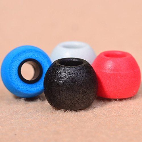 4 Pairs Earbuds Replacement Tips Memory Foam for Shure Sennheiser Sony Koss AKG Technica in-Ear Earphones Headphones (Mix Color) - KINDEN