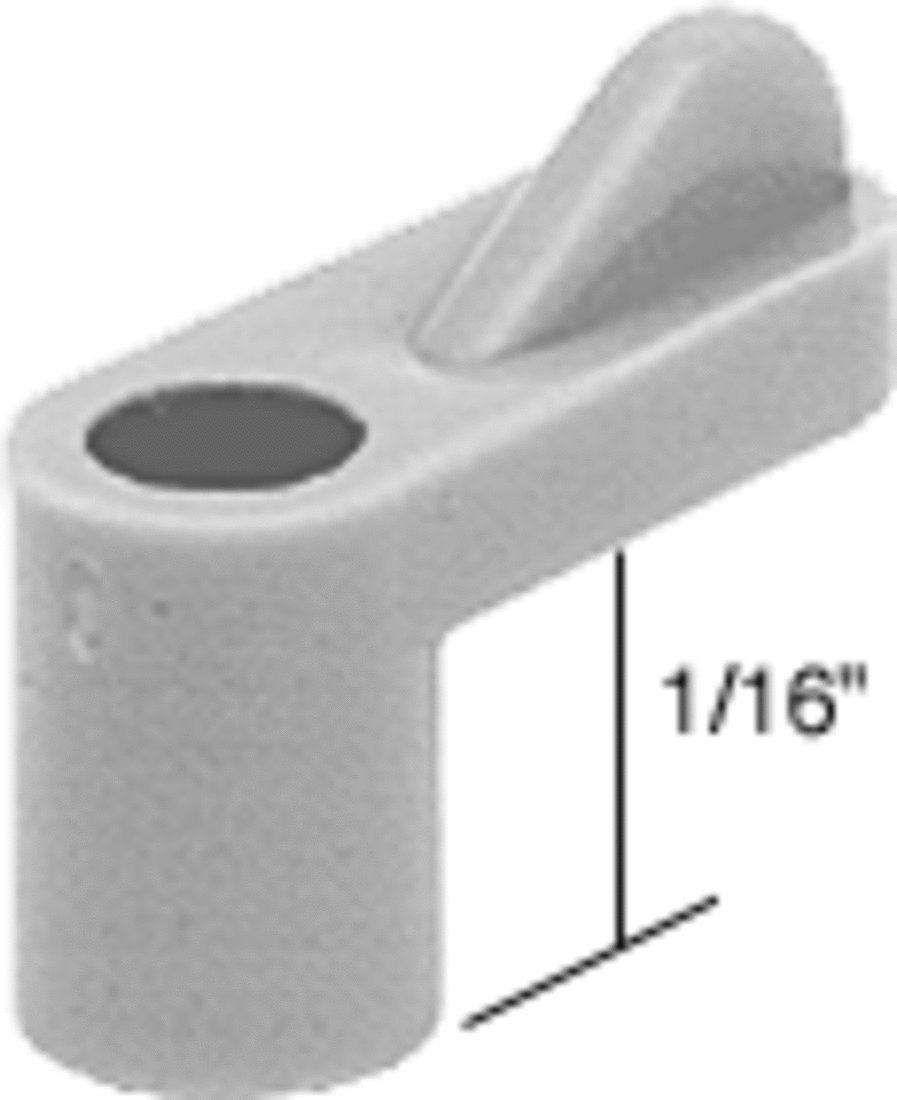 CRL Gray 1/16'' Plastic Window Screen Clips - Bulk Pack of 100 by CR Laurence