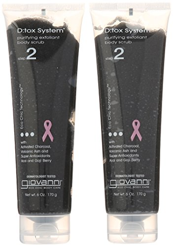 41sejieUcHL Giovanni D;tox System Purifying Body Scrub, (step 2), 6-Ounces (Pack of 2)