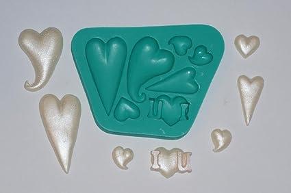 kbksiliconemoulds Sugarcraft de caucho de silicona Moldes Decoración de Pasteles de resina Moldes Oficios fondant Gumpaste