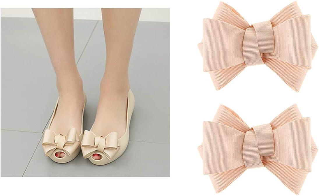 IPOTCH 2pcs N/œud Papillon Clips Chaussures Accessoires pour Chaussures