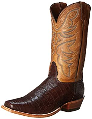 Nocona Boots Men's Caiman L Toe Western Boot,Chocolate,8 EE US