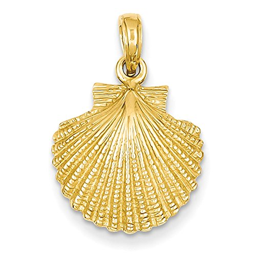 Lex & Lu 14k Yellow Gold Scallop Shell Pendant ()