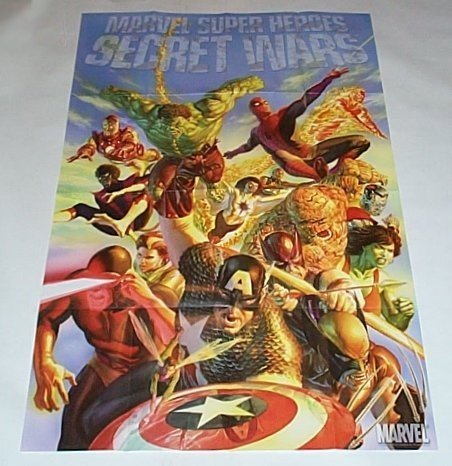 Alex Ross Marvel Super Heroes Secret Wars Promo Poster: Spider-man/X-Men/Fantastic Four/Avengers/Hulk