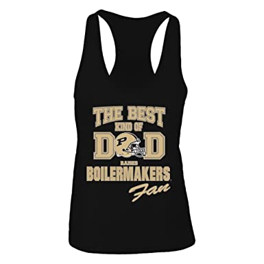 1d784f1f5 FanPrint Official Sports Apparel Women's Tank Top Purdue Boilermakers  Officially Licensed Best Kind of Dad Raises