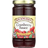 R.W. Knudsen Cranberry Sauce - 100 Percent Natural - 10 oz - case of 12 - No Preservatives - Non GMO
