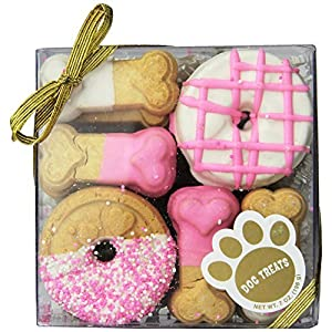 Claudia's Canine Cuisine Gift Assortment Dog Cookies, 7-Ounce, Pink Passion