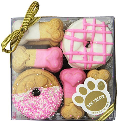 Claudia'S Canine Cuisine Gift Assortment Dog Cookies, 7-Ounce, Pink Passion ()