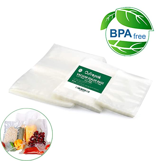 150 Bags in 3 sizes! 50 Pint, 50 Quart and 50 Gallon food saver bag commercial grade vacuum sealer bags for Food saver & more machines, plus Sous Vide Cooking
