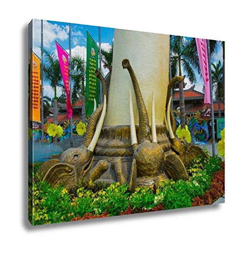 Ashley Canvas Very Beautiful Modern And Large Park In Ho Chi Minh City Wall Art Decor Stretched Gallery Wrap Giclee Print Ready to Hang Kitchen living room home office, 24x30 by Ashley Canvas