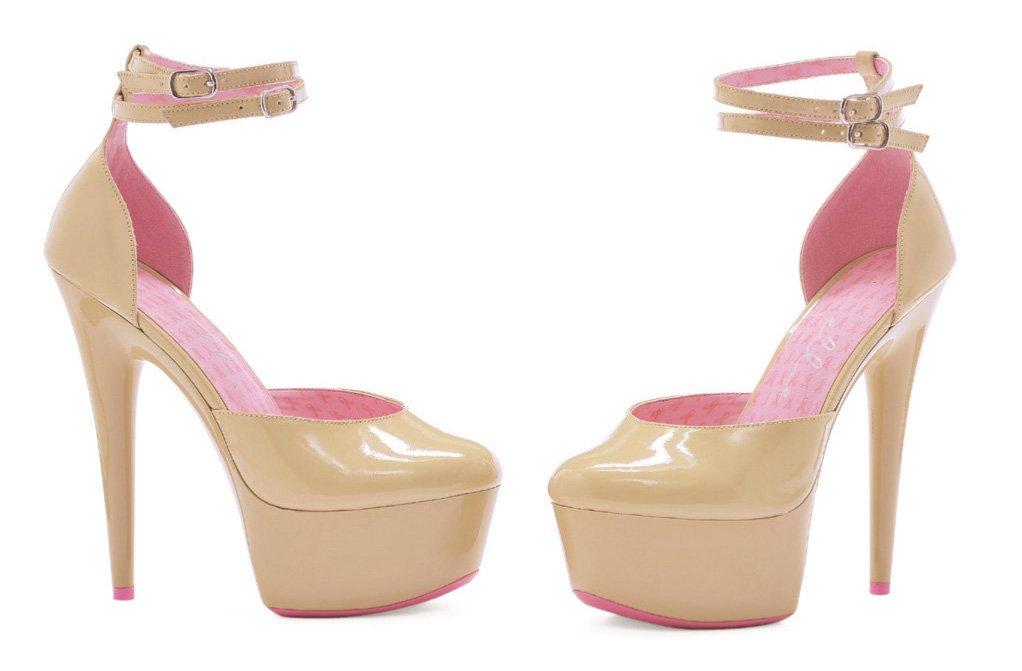 Ellie Shoes Women's 609-Curissa D'Orsay Pump B008YUX1DQ 6 B(M) US|Pink/Nude/Multicolor