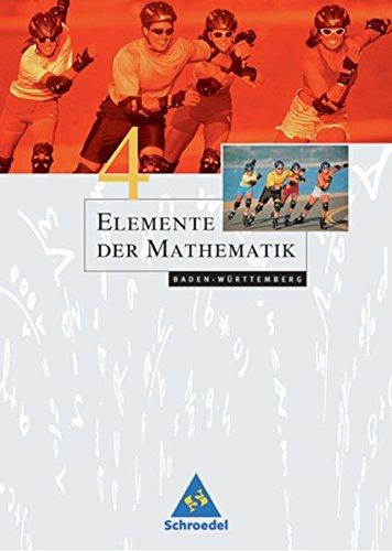 Elemente der Mathematik SI - Ausgabe 2004 für Baden-Württemberg: Schülerband 4