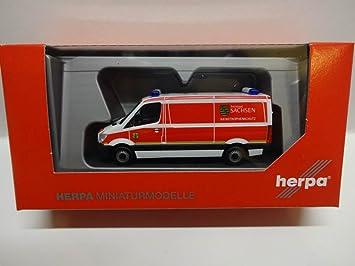 Herpa 093354 Vehículo Mercedes Benz Sprinter Buzón de protección Civil Freistaat Sajonia: Amazon.es: Juguetes y juegos