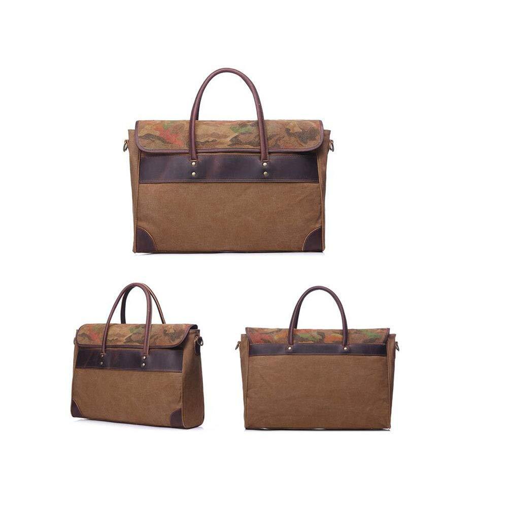 Color : B Gray Xinyuan Mens Canvas Bag Handbag Large Capacity Casual Cross Section Shoulder Messenger Bag Mens Briefcase Leisure Travel Green Camel