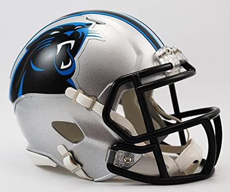 799cf840e992b Amazon.com  Carolina Panthers Riddell Speed Mini Football Helmet - New in  Riddell Box  Sports Collectibles