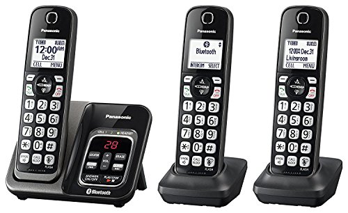 Panasonic KX-TGD563M Link2Cell Bluetooth Cordless Phone with Voice Assist and Answering Machine - 3 Handsets (Renewed)