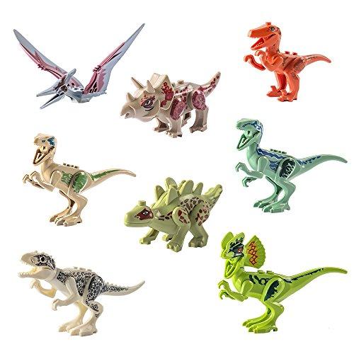 Sproutoy Dinosaur Mini Figure Building Blocks Dinosaur Toys Animal Toy Set Blocks Playset 8 pcs