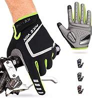 NICEWIN Guantes de ciclismo de dedos completos para hombres, tela transpirable resistente al desgaste, almohad
