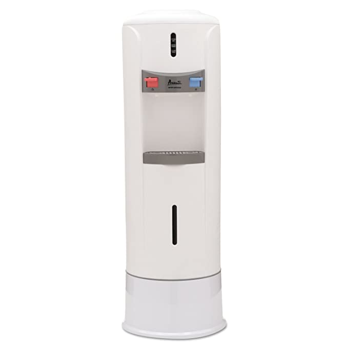 Hot and Cold Water Dispenser, 12 3/4dia. x 39h, Ivory White, Sold ...