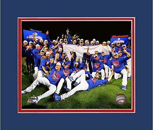 Chicago Cubs 2016 NLCS Game 6 Team Celebration Photo (Size: 11
