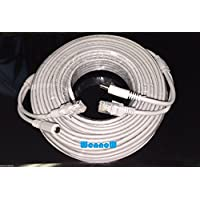 Wennow Gray 100ft Cat5E Network Ethernet LAN Video/Thick Power Cable for CCTV IP Camera and wifi router