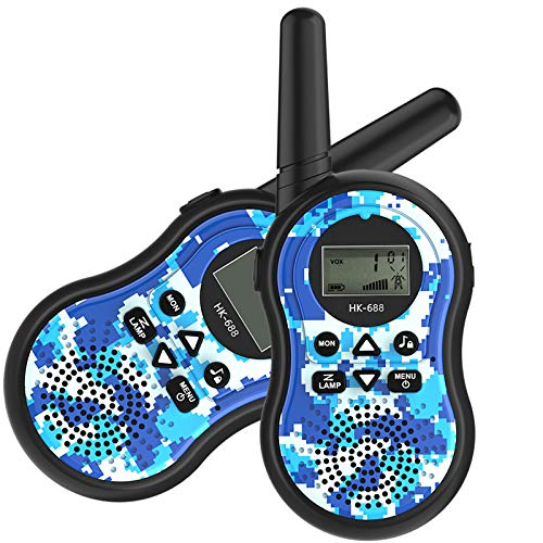 HM2 Children's Toy Walkie-Talkie Handheld Intercom Multi-Party Call, Suitable for Parent-Child Interactive Outdoor Toys,Blue by HM2 (Image #5)